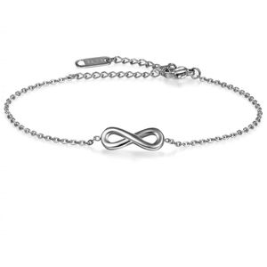 Stainless Steel Infinity Anklet Bracelet Silver